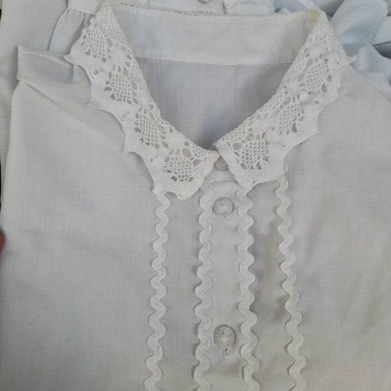 Cottagecore vintage dirndl  milkmaid blouse with … - image 4