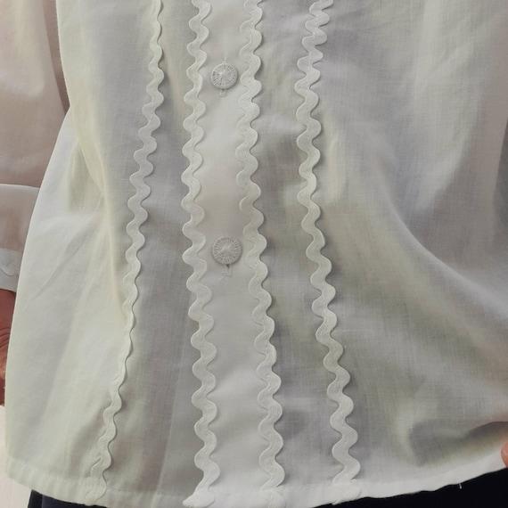 Cottagecore vintage dirndl  milkmaid blouse with … - image 3