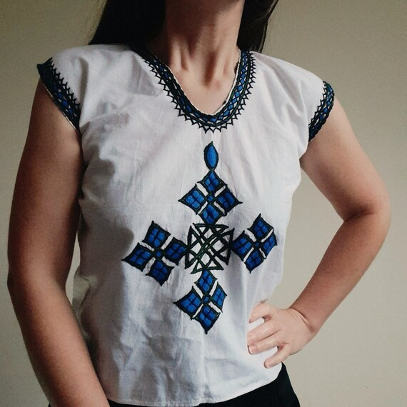 40s vintage cottagecore blouse Hungarian Romanian… - image 1