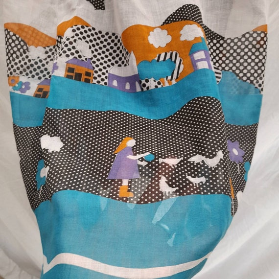 Cottagecore 70s  vintage prairie maxi skirt, fair… - image 5