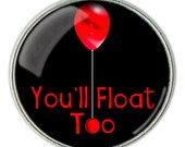 Stephen King's It, 'You'll float too' Red Balloon Necklace, Red Balloon Pendant, Red BalloonJewelry