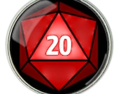 RPG d20 Necklace, d20 Pendant, d20 Jewelry