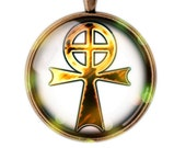Gnostic Cross Necklace,  Pentacle Pendant, Pentacle Jewelry