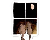 """Bubble-free stickers: """"Cats and the Moon"""" by elvis likes this"""