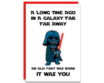 Star Wars Funny Birthday Card