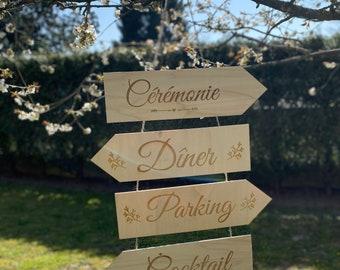 Wedding directional arrows