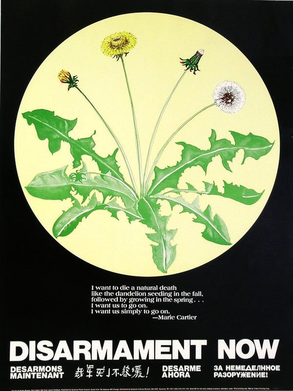 Disarmament Now, Mint Vintage Poster by Syracuse Peace Council