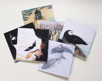 Greetings Card Bundle - Any 4 cards. Art. Landscape. Wildlife. Scottish. 100% Recycled Paper.