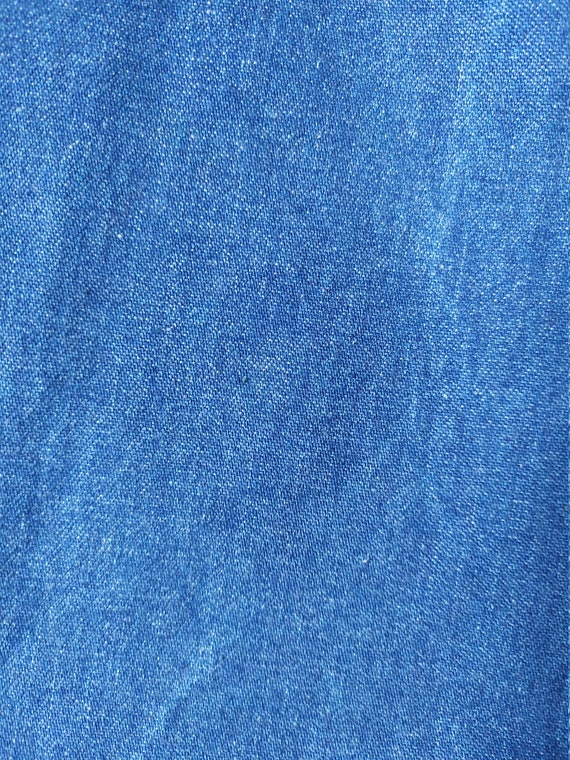Vintage 1970s jeans skirt, A-line, high waist, bu… - image 8