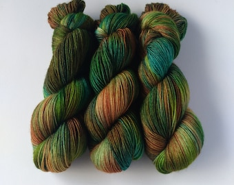 """BFL Sock """"The Wild Swans"""", hand-dyed, 400 m/100g, 100% Bluefaced Leicester"""