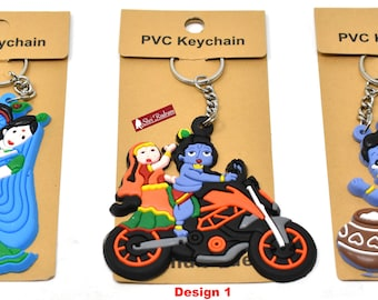 Lord Krishna Krishan Key Ring KeyChain keyring keyfob