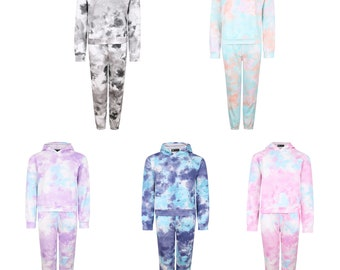 Pixie hooded jacket in tie dye cotton with back adjustable strings