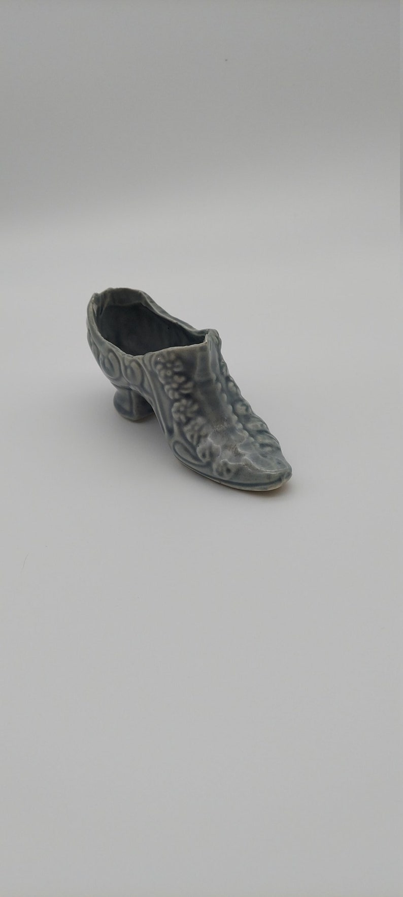 Planter Powder Room Accessory Small Vase Porcelain Shoe Figurine Shoe Collection Vinatge Ceramic Shoe Figurine