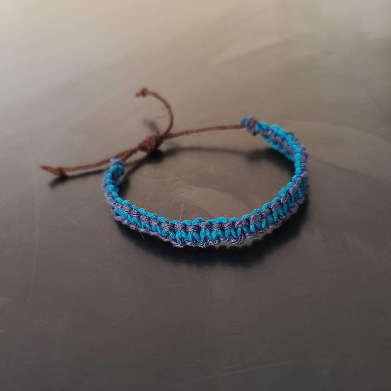 Customizable adjustable hemp cord bracelets