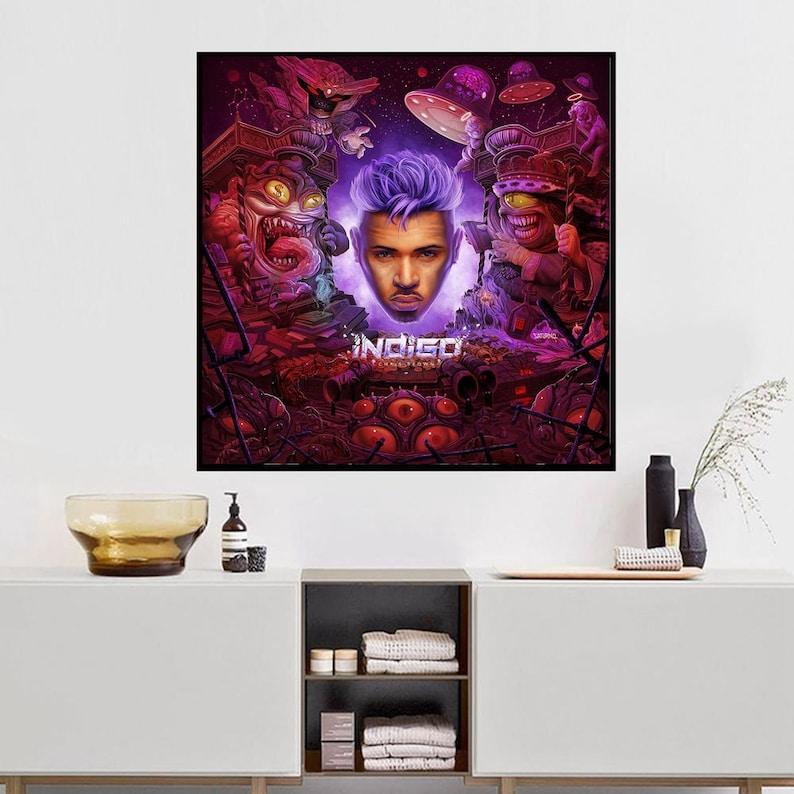 Chris Brown indigo Art Music album cover Music Poster Wall Art Canvas painting for Living Room Home Decor Unframed