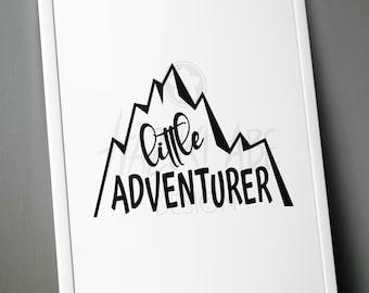 PLOTTERFILE Lettering Little Adventurer svg dxf jpg png