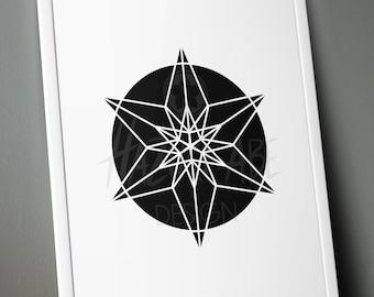 "PLOTTERFILE Star ""Geometric Star"" svg dxf jpg png"