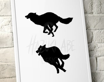 PLOTTERFILE Wolf Silhouette svg dxf jpg png
