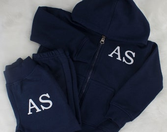 Kids Essentials Personalised Boys Girls Baby Tracksuit Loungewear Embroidered Name