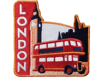 London England Travel Patch Embroidered Iron on Sew on Badge Souvenir
