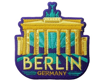 Berlin Germany Shield Embroidered Iron On Patch