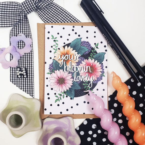 Blooming Daisy A6 Blank Card Colourful Illustration