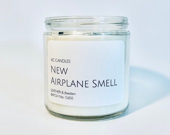 NEW AIRPLANE SMELL — Leather & Freedom: Airplane Candle, Scented Candle, Pilot Decor