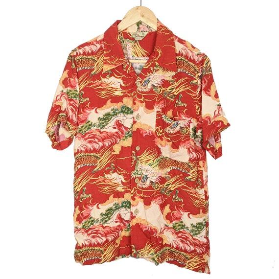 Vintage Dragon  Hawaiian Shirt  Patina Vintage JAP