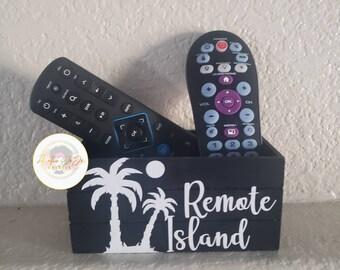 Remote Control Holder, Remote Caddy, Remote Island, Funny Decor, Home Decor
