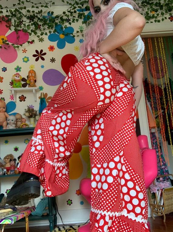Vintage polka dot 1960s clown pants