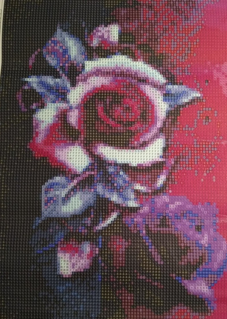 Beautiful Multi Colored Roses Full Round Diamond Art Painting Free Shipping US SELLER
