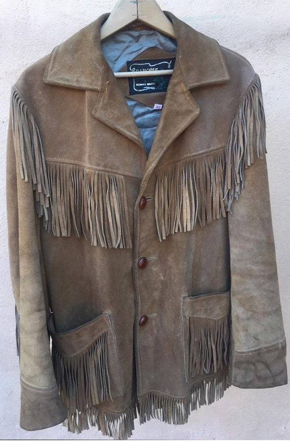 "1960's Schott ""Rancher"" Suede Leather Fringe Jacke"