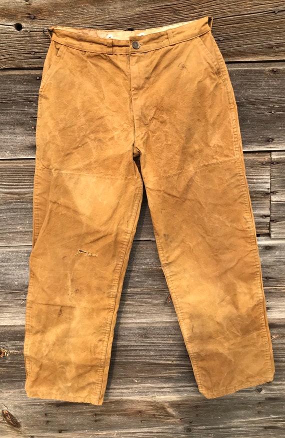 1950's Brushmaster Oil Cloth Hunting Pants 28x28