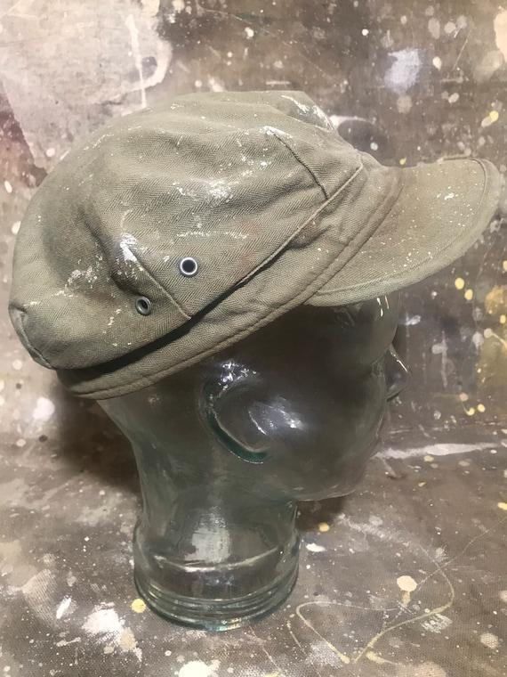 1940's WWII HBT Field/Mechanic's Hat