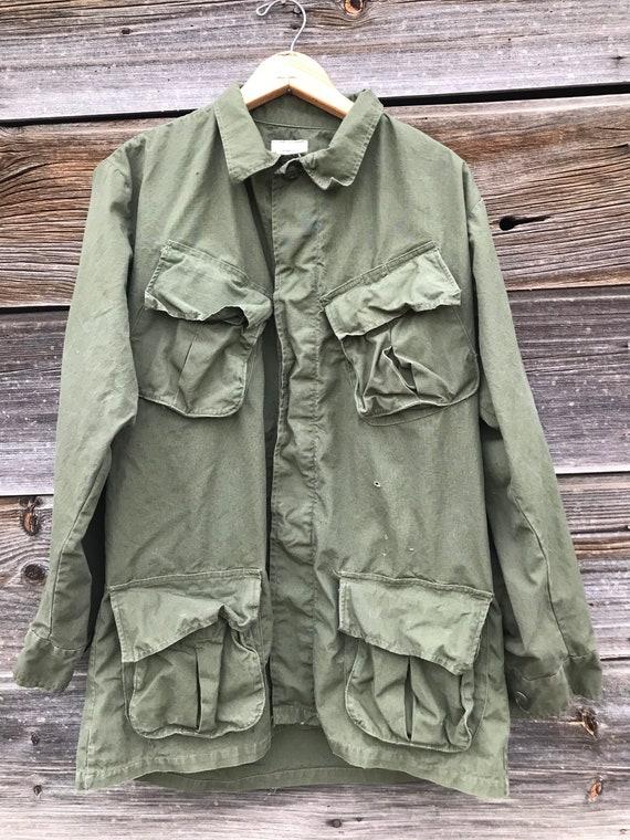 1960's Vietnam OG-107 Rip-Stop Jungle Jacket