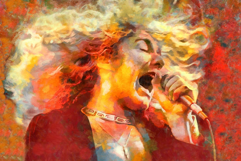 Led Zeppelin Robert Plant PosterMetal Art Immigrant Song/' Free US Shipping!