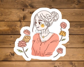 Custom portrait sticker, Custom self portrait, Custom vinyl sticker, custom sticker picture, custom sticker people, Die cut sticker