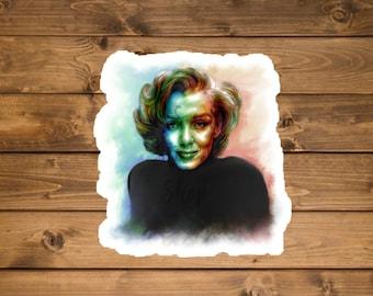 Watercolor Pop Art Marilyn Monroe Sticker, Waterproof vinyl sticker, Laptop sticker, Hydro flask sticker, Celebrity sticker, Die cut sticker