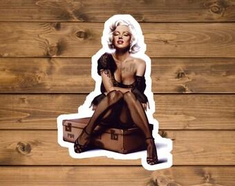 Sexy Marilyn Monroe Sticker, Waterproof Vinyl sticker, laptop sticker, die cut sticker, water bottle sticker, Hydro flask sticker