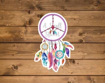 Dreamcatcher Vinyl Sticker, Planner sticker, waterproof vinyl sticker, Laptop sticker, Hydro flask sticker, mirror Sticker, Cute sticker