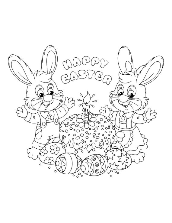 30 Easter Bunny Coloring Pages