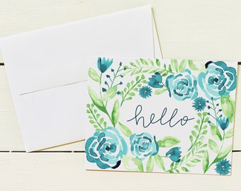 Note Card Set - Set of 6 Note Cards w/ Coordinating Envelope - Stationery Paper