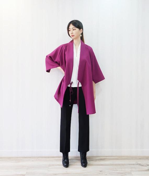 Modern Hanbok Quilted Fabric Fall Winter hanbok Warm Jacket Embroidery Korea Traditional Jeogori 5 Colors Ivory Mustard Grey Pink Purple