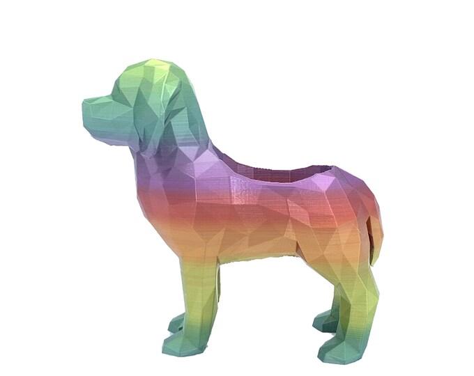 3D Printed Geometric Lab / Beagle Dog - Flower pot