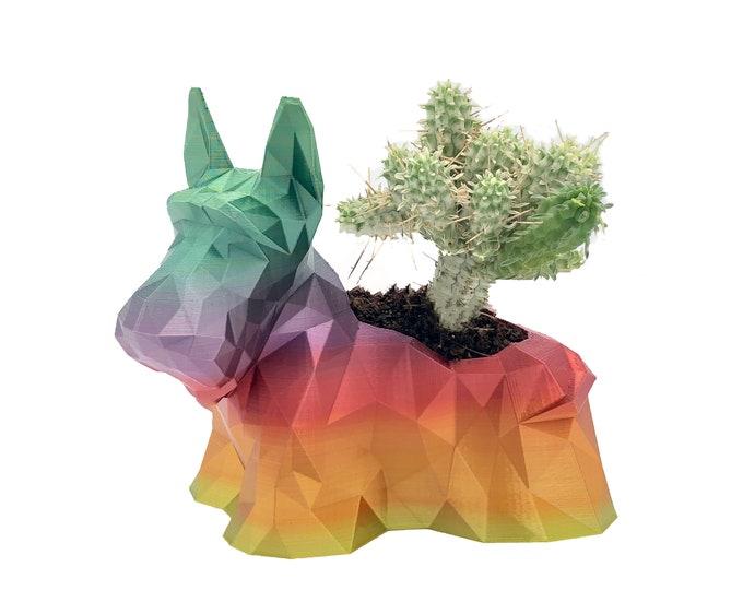 3D printed Scottish Terrier Dog planter