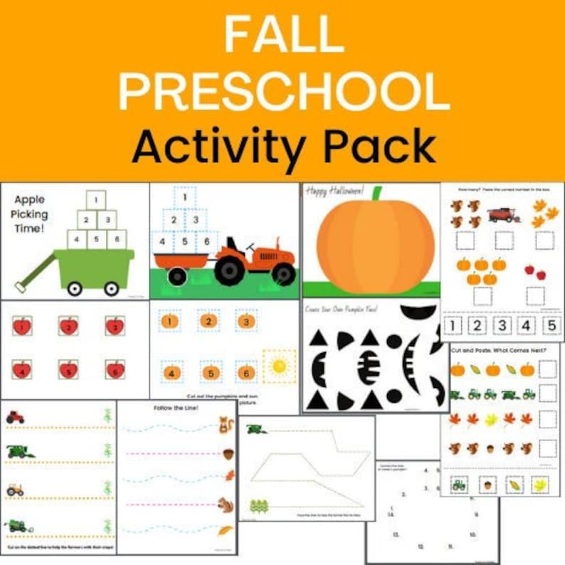 Fun Fall Printable Set for Preschool Fall Preschool image 0