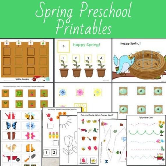 Spring Preschool Activities Spring preschool printable