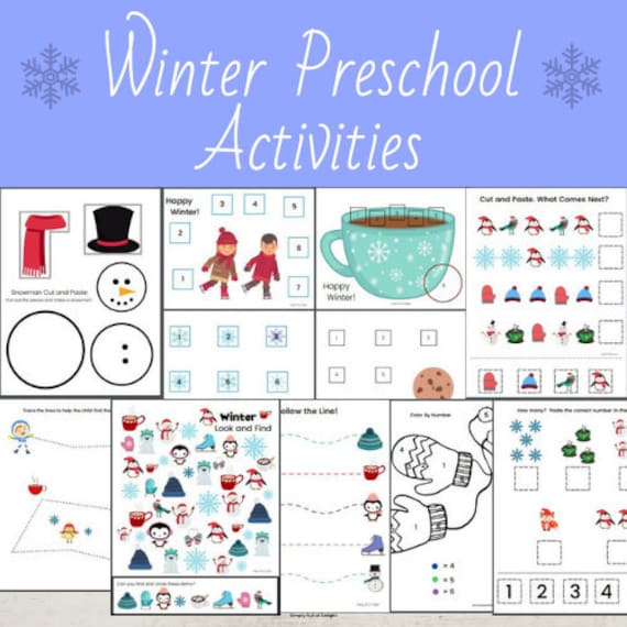 Winter Preschool Activities Winter preschool printable