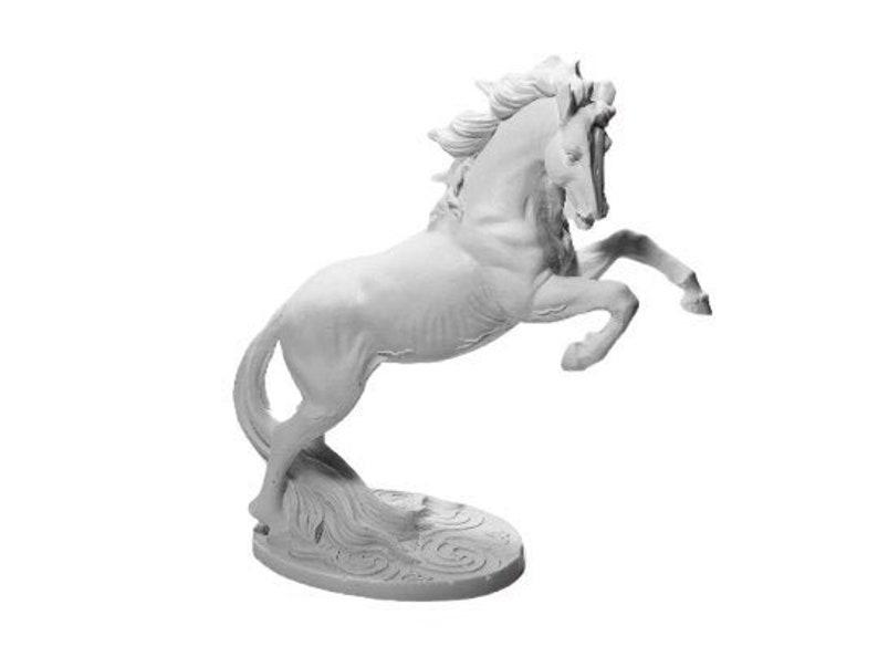 Modern Decorative Antique Objects Trendy Handmade Sculpture Statue for Modern Home Arising Horse Decorative Antique Mythology Art