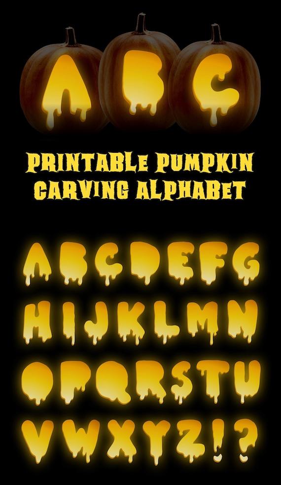 Jack-o-lantern letters  Create custom pumpkin words with